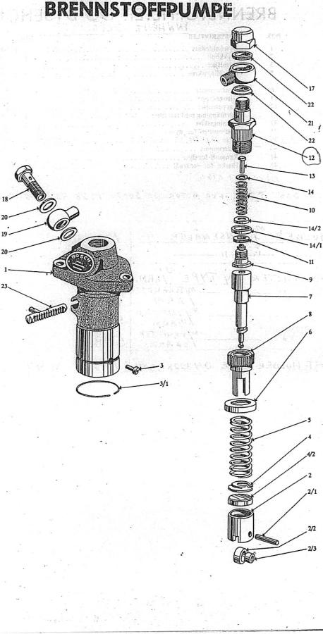 m1-m3 brennstoffpumpe