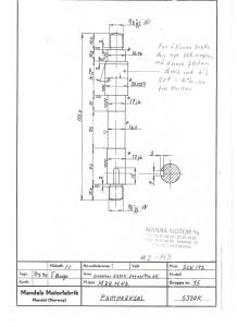 M2 - M3 dreiing av vannpumpeaksel